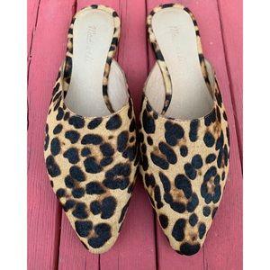Madewell 'The Remi' leopard calf hair mules